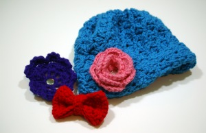 crochet hat with snpas