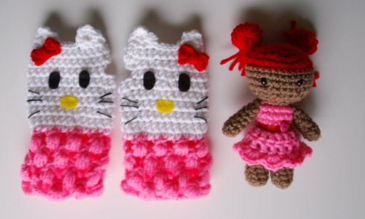 hello kitty amigurumi crochet doll