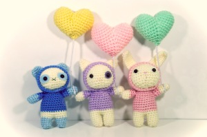 amigurumi hooded animals millieonherworld