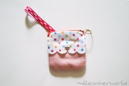 Cupcake Felt Pouch by MillieonherWorld
