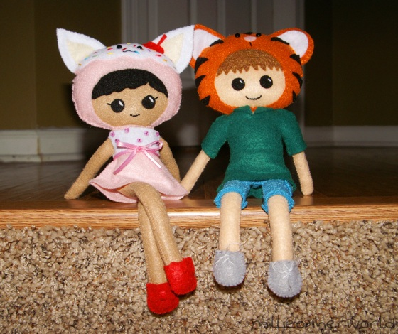 felt dolls millie and chris millieonherworld