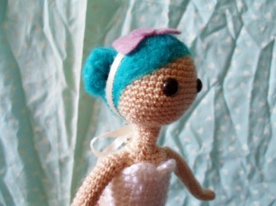crochet doll hair on mia by millieonherworld