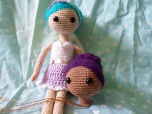 crochet thread doll by millie on her world