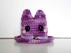 crochet cat mini top hat
