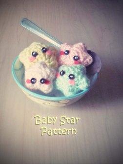 amigurumi baby stars