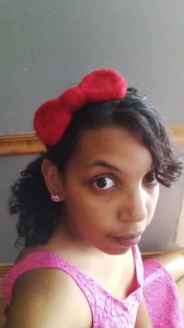 Hello Kitty Bow Headband, felted headband