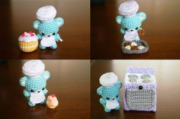 bakery crochet set amigurumi bear